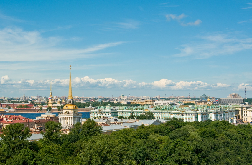 Aerial view of St.Petersburg